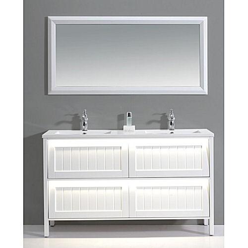 bathroom vanity and cabinet set bgss as04 1500a light up vanity mirror. Black Bedroom Furniture Sets. Home Design Ideas
